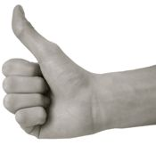 thumbs-up praise from past clients