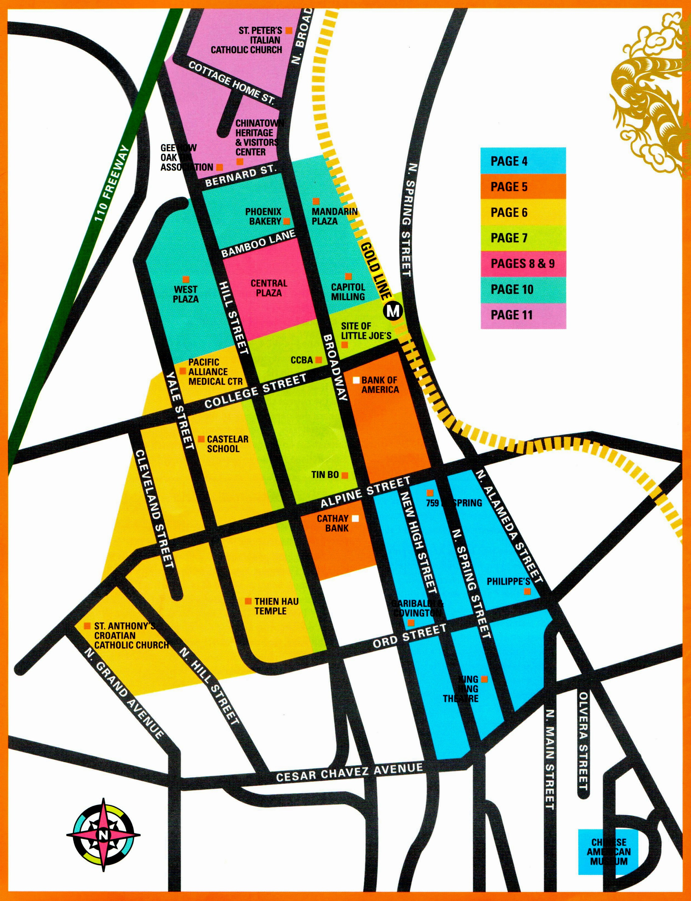 Los Angeles Chinatown - Los angeles unified map